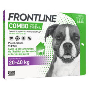 Frontline combo chien L 6 pipettes