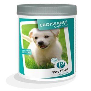 petphos-croissance-chien croissance Ca/P=1,3 boîte de 100 comprimés