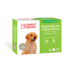 Vermifuge Vermiscan chien 100 mg